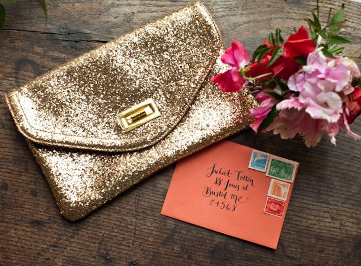 Glittery Gold Wedding Finds for Glam Handmade Weddings sparkle clutch