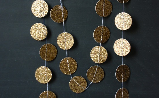 Glittery Gold Wedding Finds for Glam Handmade Weddings garland