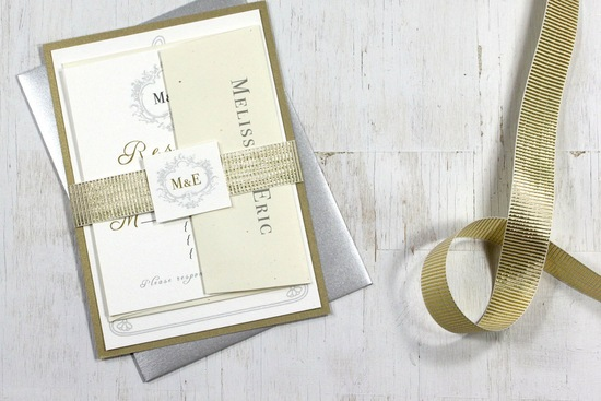 Glittery Gold Wedding Finds for Glam Handmade Weddings elegant invites