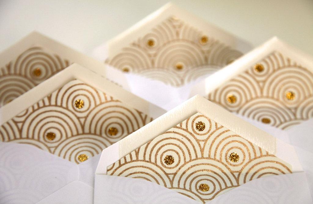 Glittery Gold Wedding Finds For Glam Handmade Weddings Envelopes