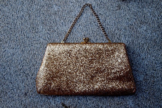 Glittery Gold Wedding Finds for Glam Handmade Weddings vintage clutch