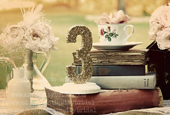 Glittery Gold Wedding Finds for Glam Handmade Weddings table numbers