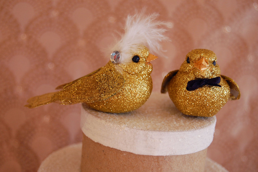 Glittery Gold Wedding Finds for Glam Handmade Weddings cake topper