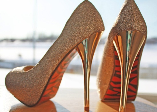 Glittery Gold Wedding Finds for Glam Handmade Weddings bridal heels