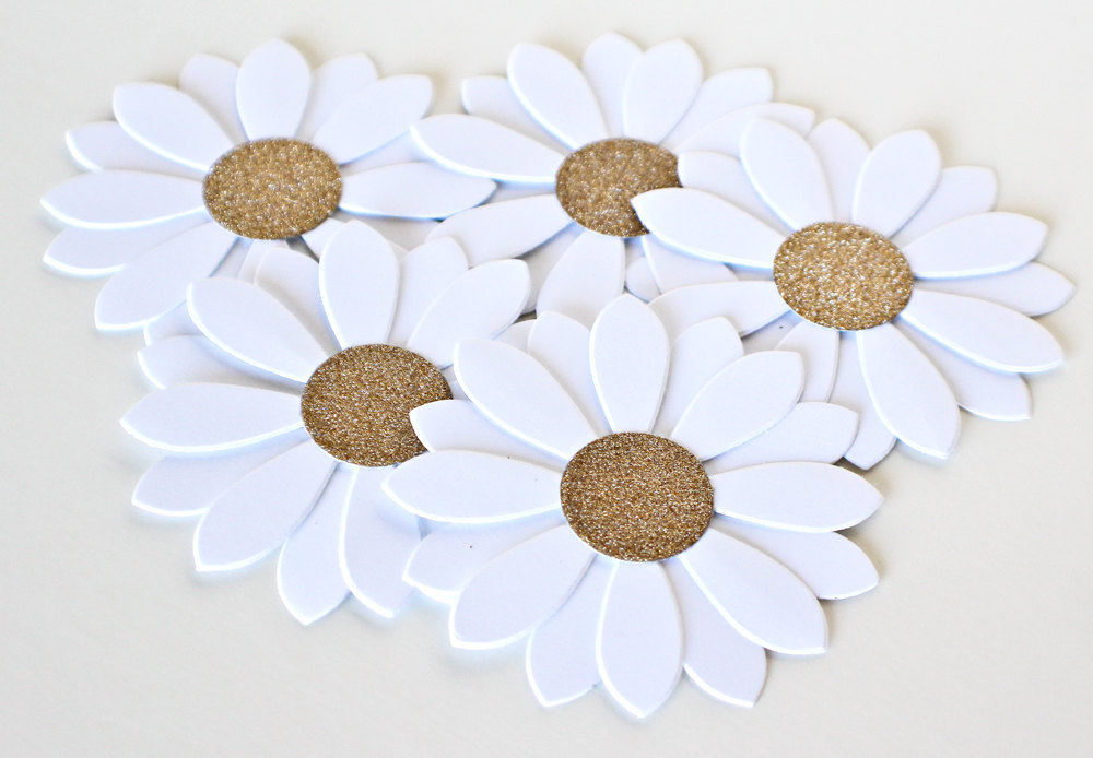 Glittery gold wedding finds for glam handmade weddings paper flowers mightylinksfo