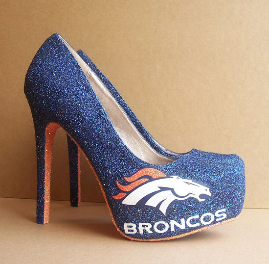 Funky Wedding Shoes for Sports Loving Brides Broncos