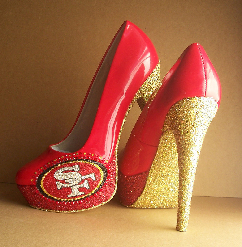 Funky-wedding-shoes-for-sports-loving-brides-49ers-red-patent-leather-with-gold.full