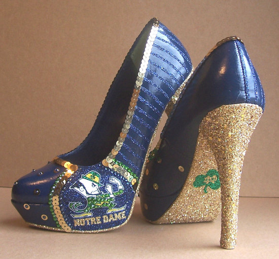 Funky Wedding Shoes for Sports Loving Brides Notre Dame