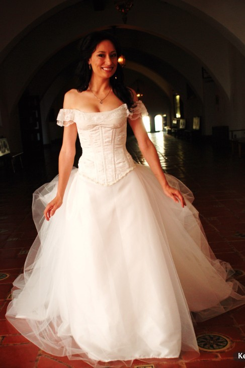 photo of Phantom of the Opera Wedding Gown by Etsy seller Aria Couture.