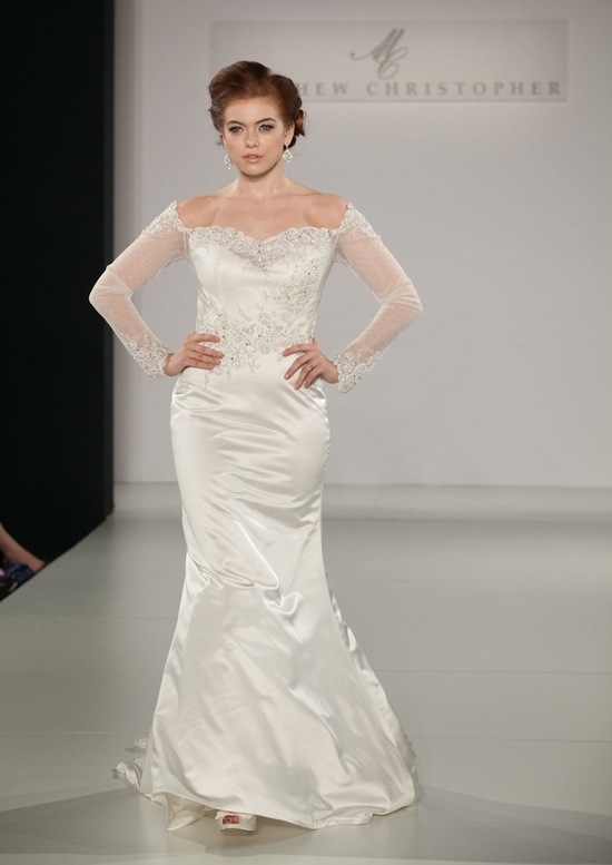 Fall 2013 wedding dress by Matthew Christopher bridal 13