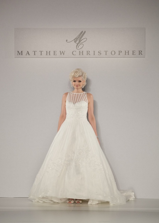 Fall 2013 wedding dress by Matthew Christopher bridal 9