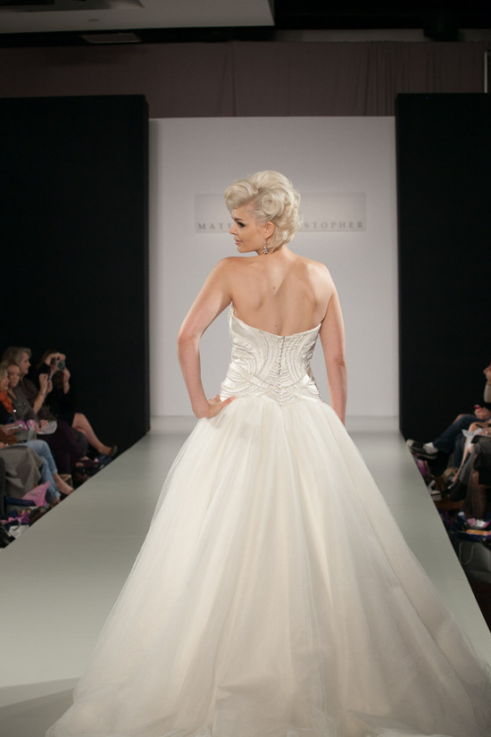 Fall 2013 wedding dress by Matthew Christopher bridal 14