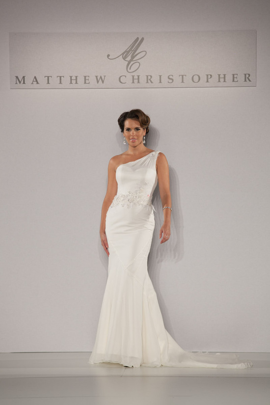 Fall 2013 wedding dress by Matthew Christopher bridal 7