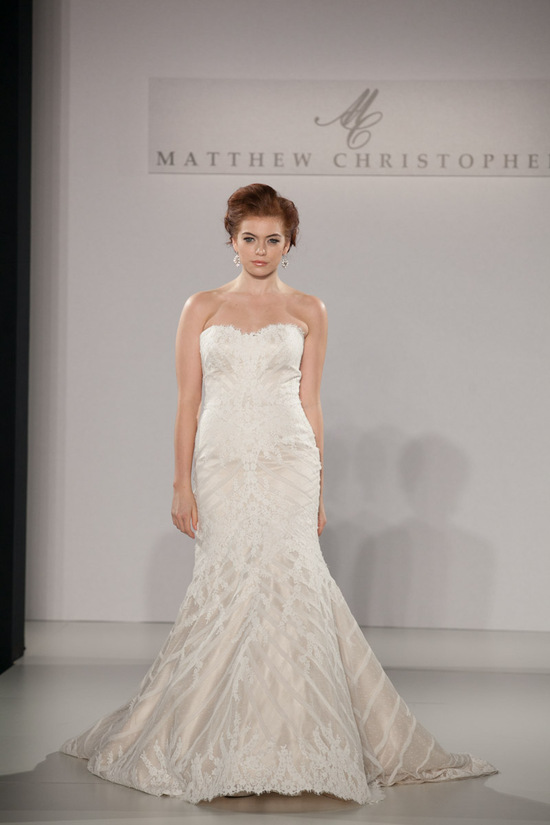 Fall 2013 wedding dress by Matthew Christopher bridal 1