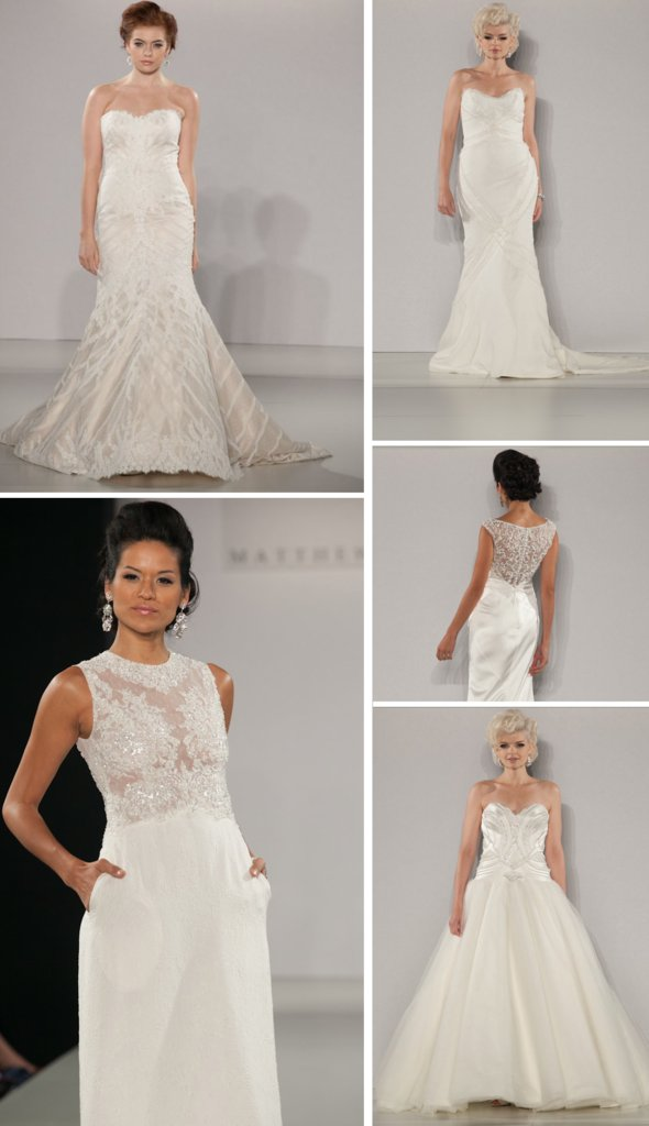 photo of 14 Glamorously Gorgeous Wedding Gowns by Matthew Christopher
