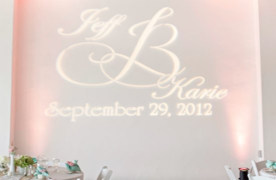 Clearwater Florida Wedding Reception Lighting Monogram