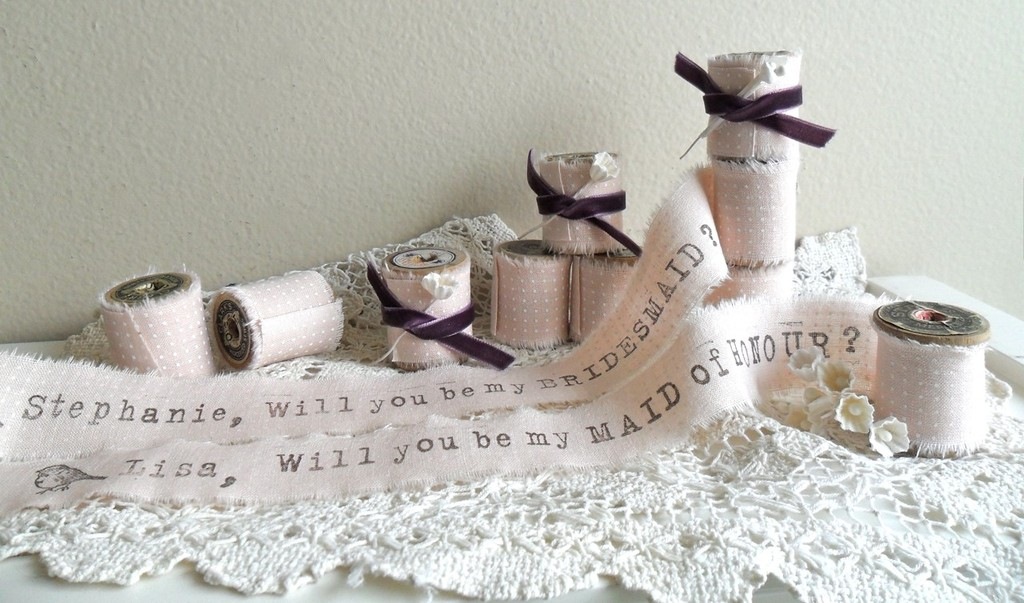 Unique Wedding Ideas to say Will You Be My Bridesmaid ribbon