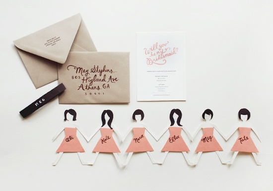 Unique Wedding Ideas to say Will You Be My Bridesmaid.