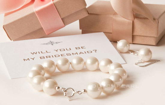 Unique Way to Say Will You Be My Bridesmaid Pearls