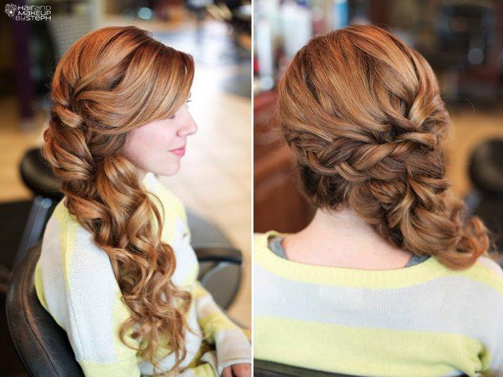 wedding hair long soft braid