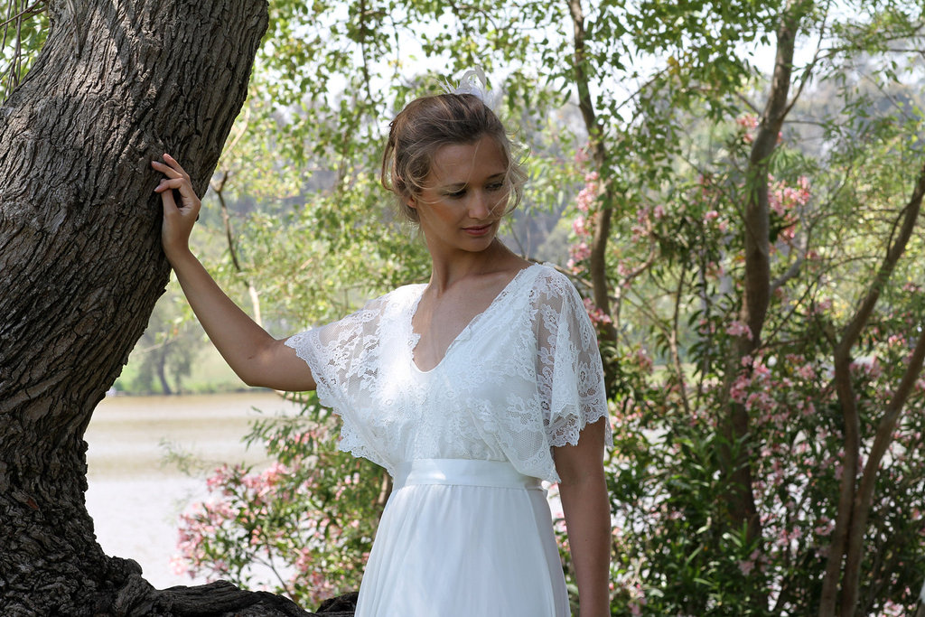 Sleeved Wedding Dresses on Etsy bridal trends 2012 13