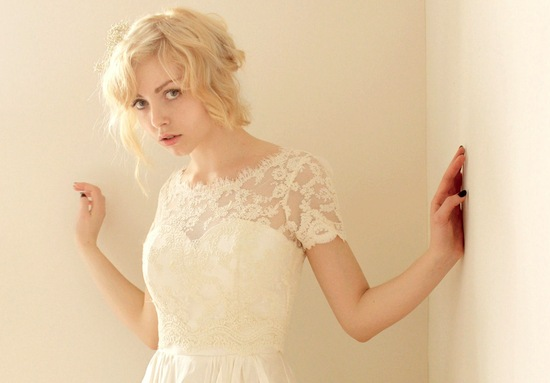 Sleeved Wedding Dresses on Etsy bridal trends 2012 16