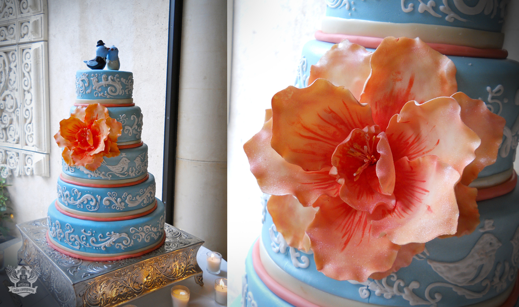 Coral_blue_bird_wedding_cake.full