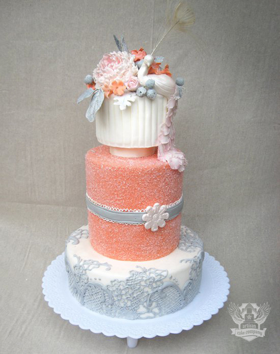 coral_peacock_wedding_cake