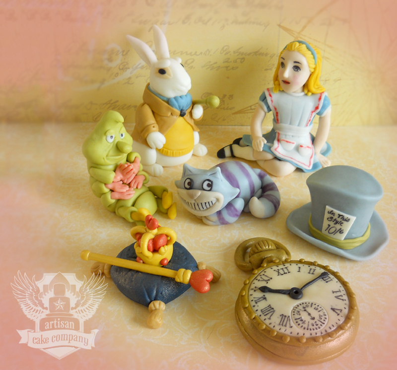 Alice in Wonderland Cake Toppers Alice Wonderland Toppers