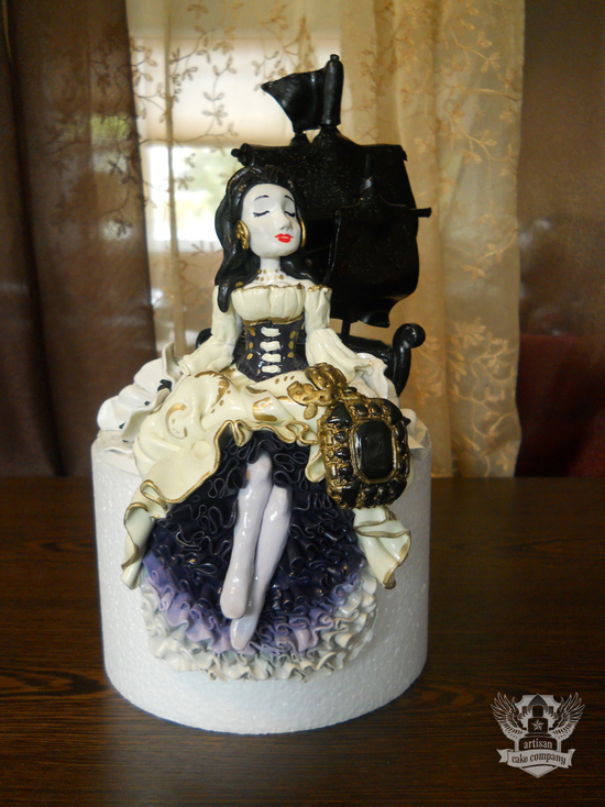 pirate ship wedding cake topper pirate wench ship wedding topper 18617