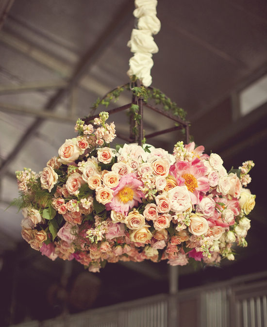 Wedding Ideas We Love Floral Adorned Chandeliers 3