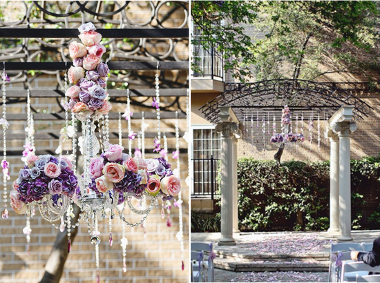 Wedding Ideas We Love Floral Adorned Chandeliers 1