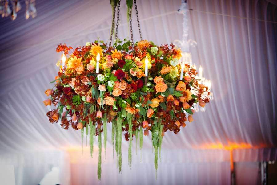 Wedding-ideas-we-love-floral-adorned-chandeliers-fall-flowers.full