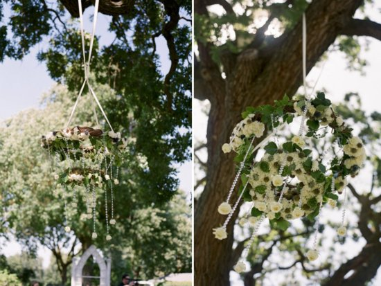 Floral Chandeliers for Romantic Outdoor Weddings