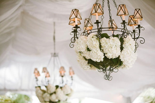 Wedding Ideas We Love Floral Adorned Chandeliers 10
