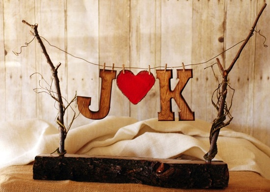 Rustic Wedding Ideas Woodland Weddings by Etsy cake topper.