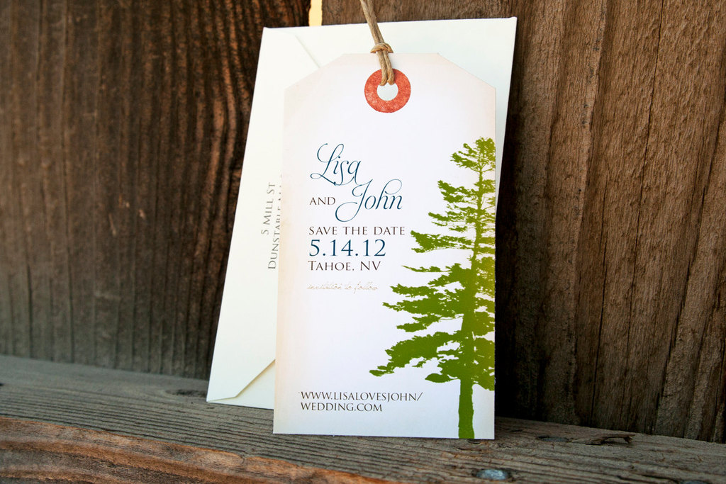 Rustic Wedding Ideas Woodland Weddings by Etsy favor tags.