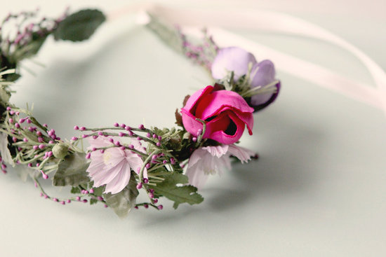 Rustic Wedding Ideas Woodland Weddings by Etsy floral crown.