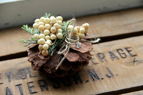 Rustic Wedding Ideas Woodland Weddings by Etsy ring bearer alternative