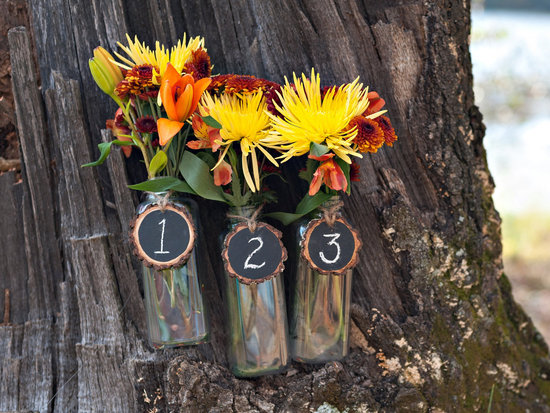 Rustic Wedding Ideas Woodland Weddings by Etsy centerpieces