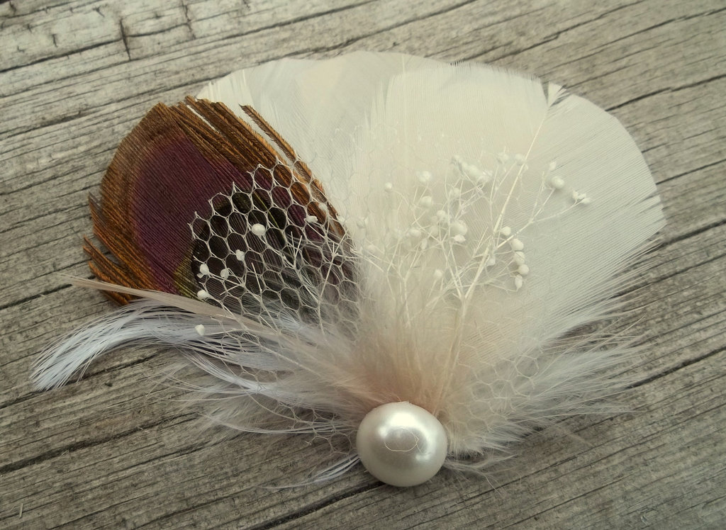 Rustic Wedding Ideas Woodland Weddings by Etsy feather fascinator