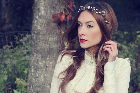 Rustic Wedding Ideas Woodland Weddings by Etsy headband