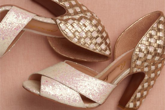 Wedding Accessories Inspiration Shimmery Bridal Heels BHLDN