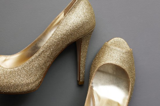 Wedding Accessories Inspiration Shimmery Bridal Heels 2