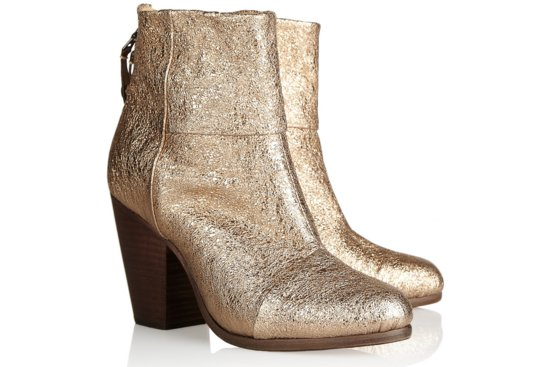 Shimmery Wedding Shoes rustic bridal boots