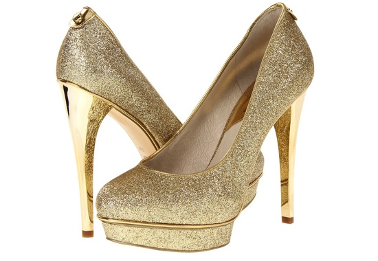 Wedding Accessories Inspiration Shimmery Bridal Heels Michael Kors