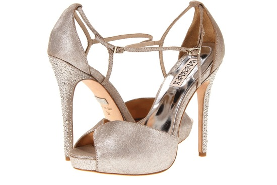 Wedding Accessories Inspiration Shimmery Bridal Heels Badgley Mischka