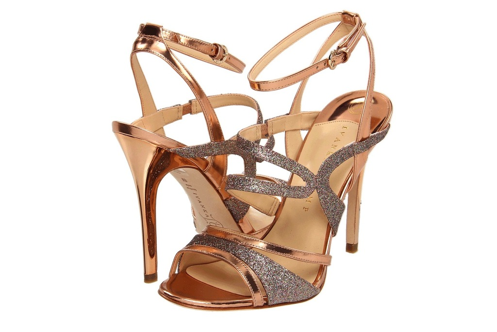 Wedding Accessories Inspiration Shimmery Bridal Heels bronze strappy