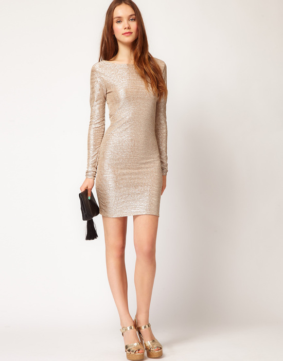 Stylish Bridesmaid Dresses from Asos 2013 Bridal Party Trends metallics 5
