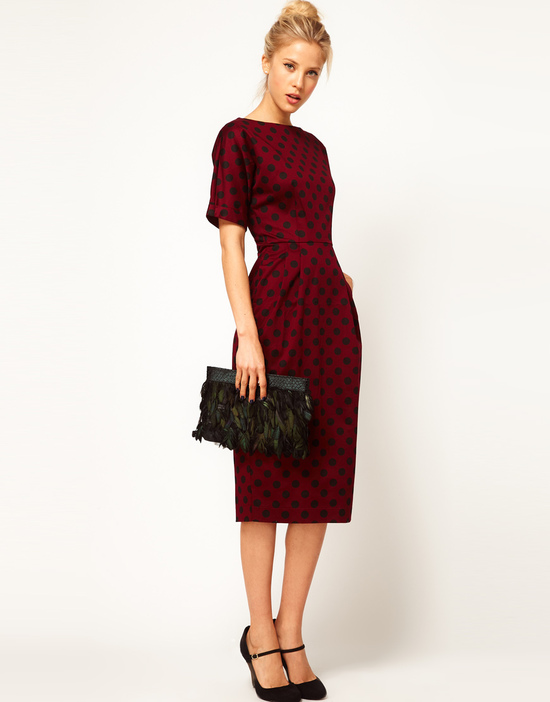Stylish Bridesmaid Dresses from Asos 2013 Bridal Party Trends polka dot